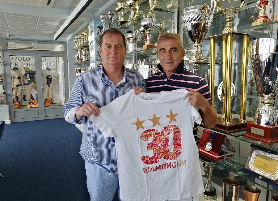 Boško Đurovski u posjeti plivackom vaterpolo klubu jadran